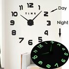 New Huge Luminous Clock DIY Design 3D Modern Wall Clock Home Decor Wall Hanging