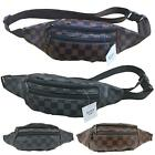New Women's Checked Design Synthetic Leather Fashion Bum Hip Belt Bag