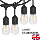 36 FT Festoon Light Outdoor Lighting Garden String Heavy Duty Bulb String Lights