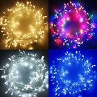 100-500+LED+String+Fairy+Lights+on+Clear+Cable+for+Christmas+Tree+Party+Wedding