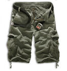 Mens Camo Cargo Combat Work Pants Military Army Tactical Pockets Loose Trousers