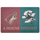 San Jose Sharks Arizona Coyotes Welcome Doormat Man Cave Decor $31.65 USD on eBay