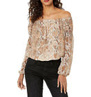 Guess | Off Shoulder Meadow Top Wild Snake Print | Multi