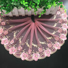 47cm, Embroidered Flower Tulle Lace Trim Ribbon for Dess Skirt Sewing DIY Crafts