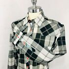 Cruel Girl Long Sleeve Button Up Western Shirt Black & White Plaid Arena Fit NEW
