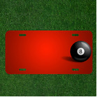 Custom Personalized License Plate With Add Names To Ball Black Pool $14.95 USD on eBay