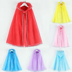 Baby Kids Girl Cosplay Princess Pageant Gown Cape Birthday Party Hooded Cloak Hy