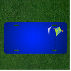 Custom Personalized License Plate With Add Names To Green Blue Orange Kite