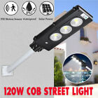 COB LED Solar Street Wall Light 120W 147leds Outdoor Flood Lights Waterproof