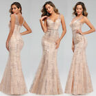 Kyпить Ever-Pretty Formal Sequins V-Neck Long Prom Dress Mermaid Evening Party Gowns US на еВаy.соm