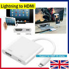 'Lightning To Hdmi Digital Tv Av Adapter Cable For Apple Ipad Iphone X 8 7 6 Plus