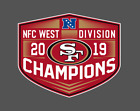 San Francisco 49ers 2019 NFC West Division Champions Vinyl Decal $10.0 USD on eBay