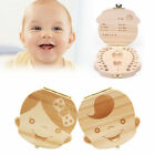 Tooth  Organizer Kids Baby Save Milk Teeth Wood Storage Box For Boy Girl x#ZF