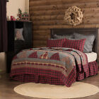 Queen King Cotton Quilt Blanket Bed Cover Spread Farmhouse Rustic VHC Brands image