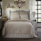 King Queen or Twin Quilt Blanket Bedspread Beige Tan Khaki Farmhouse VHC Brands image