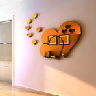 3d Mirror Love Hearts Wall Sticker Decal Removable For Living Room Home Decor Bh