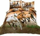 Suncloris,4pcs Queen Size Duvet Cover Set,3d Galloping Horse Bedding Set Comfort