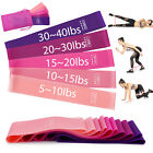 US Workout Resistance Bands Loop Set Fitness Yoga Booty Leg Exercise Band image