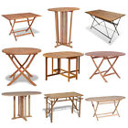 Garden Table Folding Camping Picnic Outdoor Wooden Foldable Multiple Choice UK