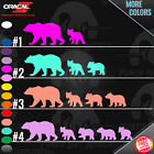 Mama Bear With Cubs Car Truck Wall Window Peel N' Stick Vinyl Decal Sticker