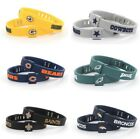 NFL Adjustable Football Silicone Wristband Bracelets Choose Your Team Free Ship $7.99 USD on eBay