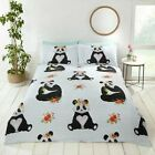 Panda Duvet Cover Set Animal Printed Quilt Cover Bedding with Pillow Case