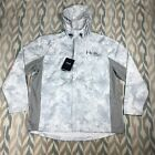 HUK Performance Fishing Men's Packable Full Zip Hooded Jacket Camo Size XL/2XL