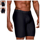 "Men's Under Armour Tech Boxer Jock 2-Pack 9"" Midway (Black) Novelty Underwear"