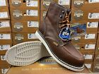 """Men's 6"""" Soft Moc Toe Safety Oil Slip Resistant Waterproof Leather Work Boots"""