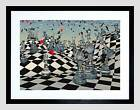 Fantasy Chess Illustration Game Picture Framed Wall Art Print