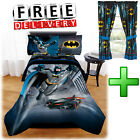 Batman Toddler Bedding Sheets Comforter Pillow Case Set Curtain Twin/Full Fitted