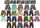 ACCESS (STREET/ALL PRO) 24 DIFFERENT COLORS OF CAMO CARGO SHORTS AS1531
