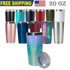 20OZ Stainless Steel Tumbler Slider Lid Double Wall Vacuum Insulated Travel Cup