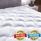 Mattress Pad Cover Pillow Top Overfilled Topper Bed Breathable Hypoallergenic image