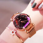 Stylish Women Watch Starry Sky Magnetic Milanese Quartz Wristwatch Luxury Watch image