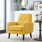 Arm Chair Sofa Leisure Living Room Furniture Button Tufted Modern Accent Seat