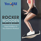 """YES4ALL ROCKER WOODEN BALANCE BOARD 17.5"""" SUPPORTS UP TO 350LBS FITNESS WORKOUT image"""