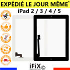 cran lcd vitre tactile ipad 2 3 4 complet bouton home adh sif