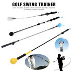 Portable Golf Swing Trainer Stick Practice Aid Training Device Strength Tempo