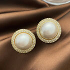 925 Silver,Gold Stud Earrings for Women Fashion Pearl Jewelry A Pair/set image