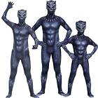 Black Panther Youth Kid Cosplay Party Costume Superhero Fancy Dress Gift Outfits