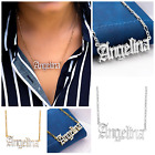 Kyпить Personalized Silver and 14K Gold Script Any Name Double Plated Necklace w/Chain  на еВаy.соm