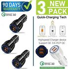3-Pack 30W Dual USB Port fast Car Charger,Qualcomm QC3.0 Certified  For Iphone