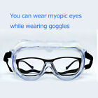 Fully Sealed Safety Goggles Adjustable Protective Eye Glasses Eyewear Clear Lens