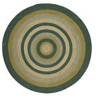 VHC Rustic Area Rug Jute Round Living Dining Room Green Floor Mat 6' or 8'