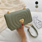 Women's Heart Quilted Crossbody Bag Small Phone Purse Shoulder Bag with Chain image