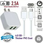 5V 2.5W Double USB Wall Cube + Type C Data/Charger cable for Samsung,LG,ZTE,[SMT