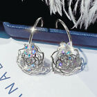 Fashion Hollow Out Rose 925 Silver,Gold Hoop Earrings Women Jewelry A Pair/set image