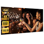"""100"""" Projector Screen 3D Plastic 16:9 Home Movie HD 1080P Portable Projection"""