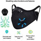 Washable Air Purifying Face Mouth Anti Fog Haze Cycling Riding Outdoor Lot I9U